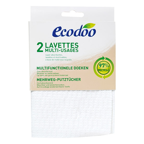 Ecodoo - Lavettes multi-usages x2