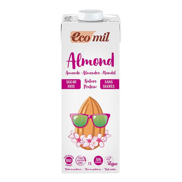 EcoMil - Lait amandes proteiné sans sucres 1L