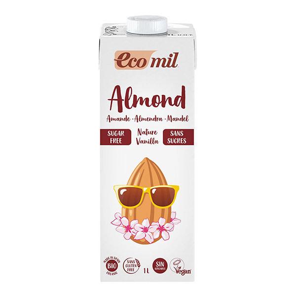 EcoMil - Lait amandes vanille sans sucres 1L