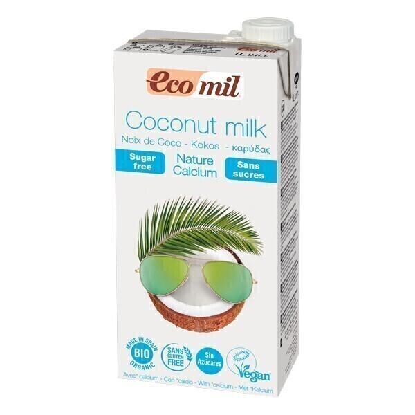 EcoMil - Lait de coco-calcium Nature sans sucres 1L