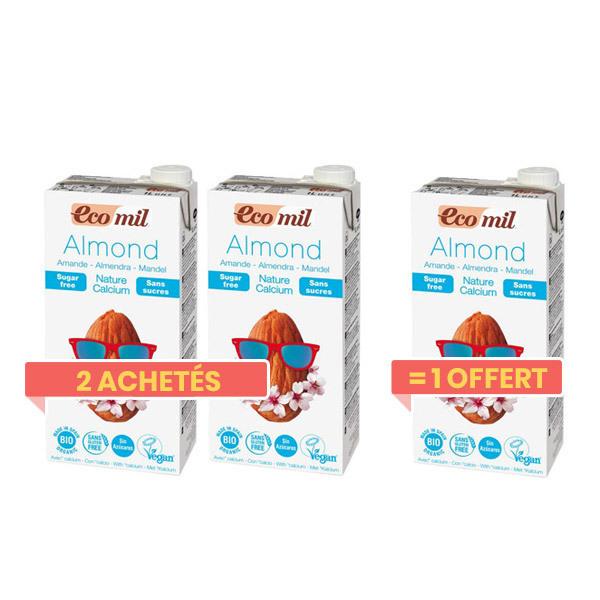 EcoMil - Angebot Mandelmilch Kalzium 1 Liter 2+1