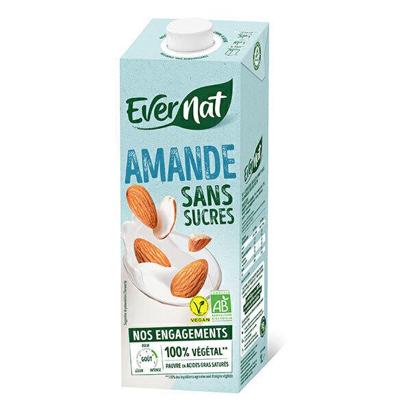 Evernat - Douceur Amande sans sucres ajoutés 1L