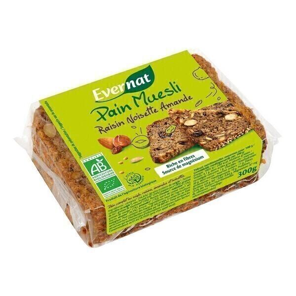 Evernat - Pain muesli raisin noisette amande 300g