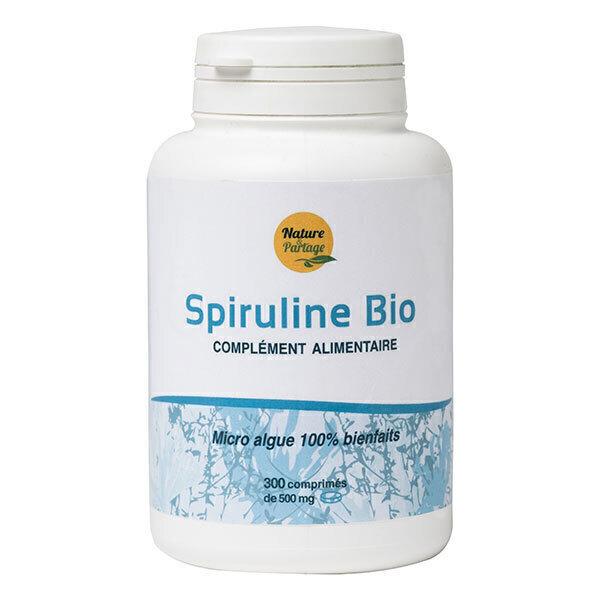 Nature & Partage - Spiruline contrôlée Ecocert 300cp/500mg