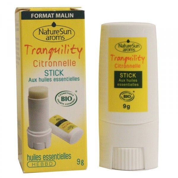 NatureSun Aroms - Stick tranquility moustique Bio 9g