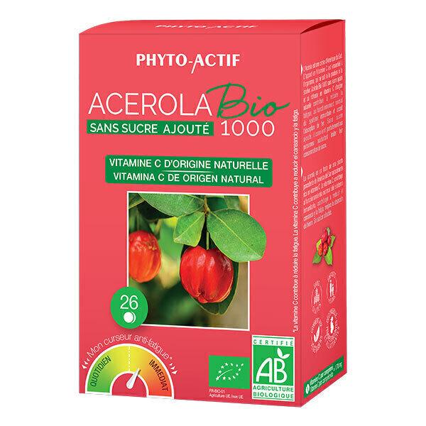 Phyto-Actif - Acérola Bio 1000 sans sucre ajouté x 26 comprimés