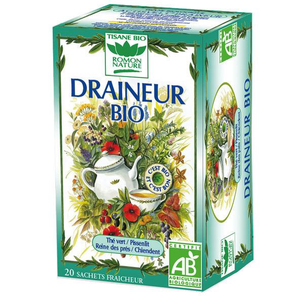 Tisane Draineur Bio 32g Romon Nature | Acheter sur
