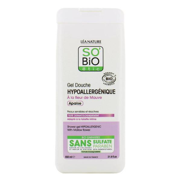 Gel douche hypoallerg nique fleur de mauve 650ml so 39 bio tic acheter sur - Gel douche hypoallergenique ...