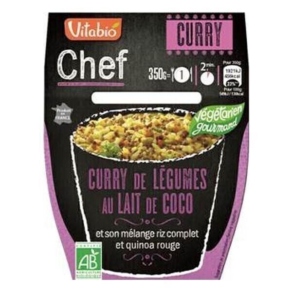 Vitabio - Curry de légumes au lait de coco 350g