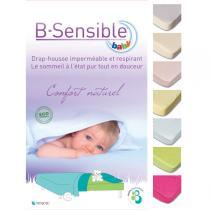 B-Sensible - Drap housse imperméable en Tencel 60 x 120 cm - Bleu ciel