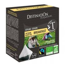 Destination - Thé Noir Breakfast bio - 20 sachets pyramide