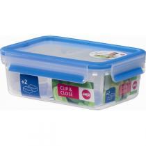 Emsa - Boîte avec 2 compartiments amovibles Clip & Close 1,0L