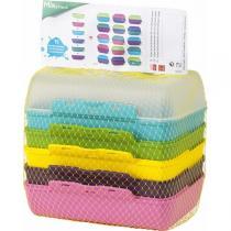 Emsa - Clipbox Variabolo - set de 3 boîtes, 6 coloris