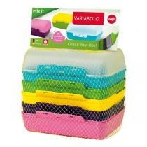 Emsa - Lot de 3 boîtes à goûter Variabolo 6 coloris