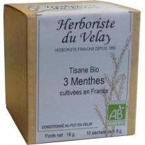 L'Herboriste du Velay - Tisane 3 Menthes Bio 10 Sachets