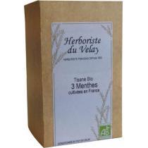 L'Herboriste du Velay - Tisane 3 Menthes Bio 20 Sachets