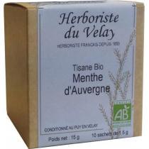 L'Herboriste du Velay - Tisane Menthe d'Auvergne Bio 10 Sachets