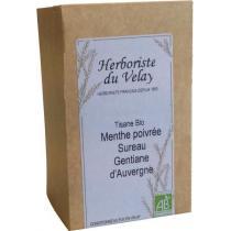 L'Herboriste du Velay - Tisane Menthe Poivrée Sureau Gentiane Bio 20 sachets