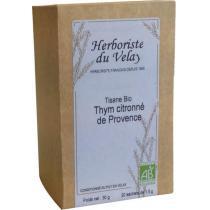 L'Herboriste du Velay - Tisane Thym Citronné de Provence Bio 20 sachets