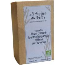L'Herboriste du Velay - Tisane Thym Citronné Menthe Bergamote Mélisse Bio 20 sachets
