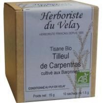 L'Herboriste du Velay - Tisane Tilleul de Carpentras Bio 10 Sachets