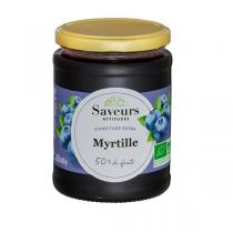 Saveurs Attitudes - Confiture extra de myrtille 600g
