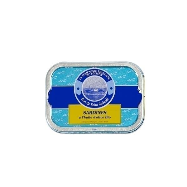 Compagnie Bretonne de Poisson - Sardines à l'huile d'olive bio 115g