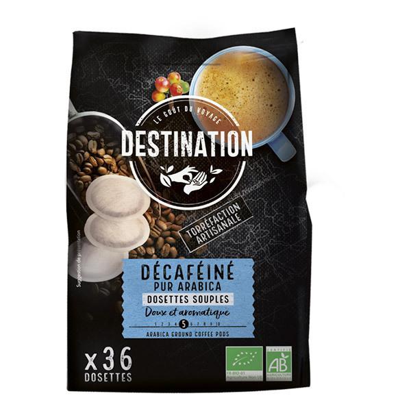 Destination - Décaféiné pur arabica Dosettes souples x36
