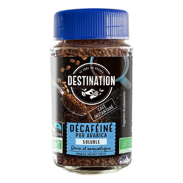 Destination - Décaféiné pur arabica soluble 100g