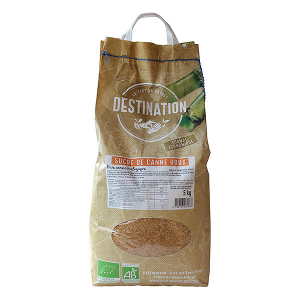 Destination - Sucre de canne roux 5kg