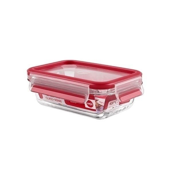 Emsa - Boîte alimentaire Clip-Close en verre rectangulaire 50cl