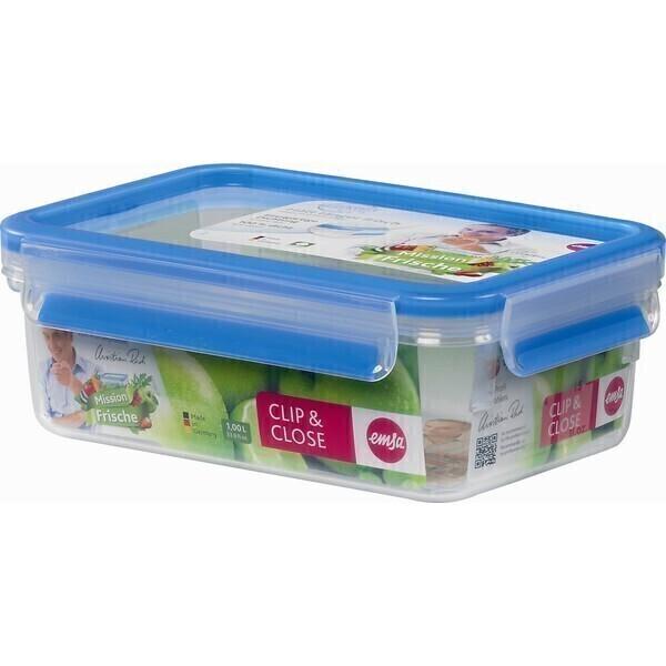 Emsa - Boîte alimentaire Clip-Close rectangulaire 1L