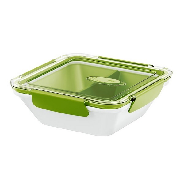 lunch box bento box carr 0 9 l blanc vert avec compartiments emsa acheter sur. Black Bedroom Furniture Sets. Home Design Ideas