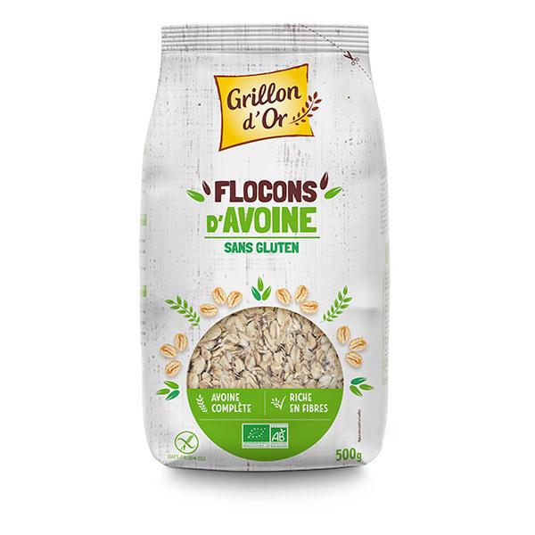 Grillon d'or - Flocons d'avoine sans gluten 500g