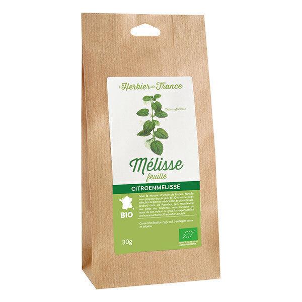 L'Herbier de France - Mélisse feuilles bio 30g