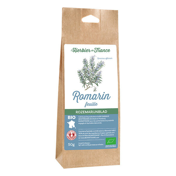 L'Herbier de France - Romarin feuilles bio 50g