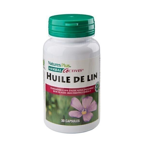 Nature's Plus - Huile De Lin 1300mg - 30 capsules