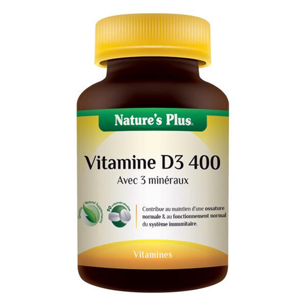 Nature's Plus - Vitamine D3 400 LP - 90 comprimés