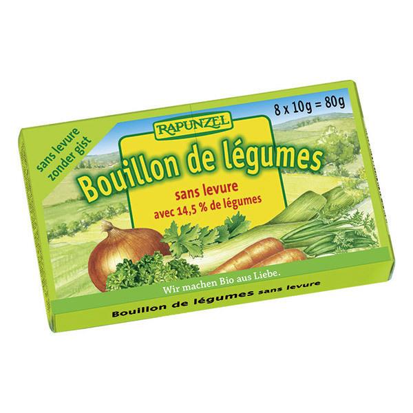 Rapunzel - Bouillon de légumes en cube sans levure 80 g