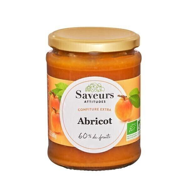 Saveurs Attitudes - Confiture extra d'abricot bio 600g