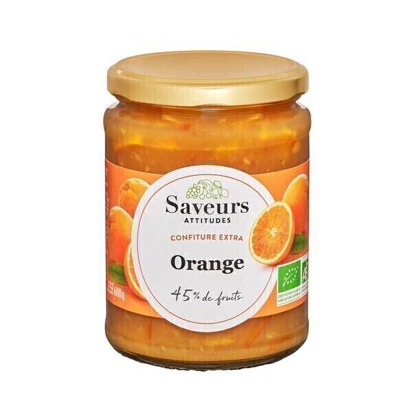 Saveurs Attitudes - Confiture extra d'orange bio 600g