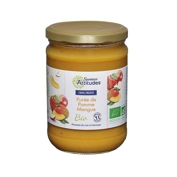 Saveurs Attitudes - Purée de Pomme Mangue 560g