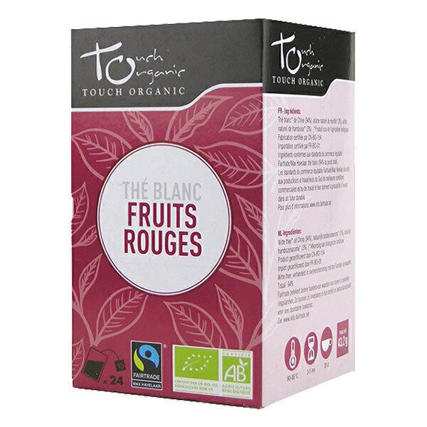 Touch Organic - Thé blanc aux Fruits rouges bio - 24 sachets