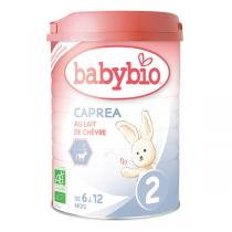 Babybio - Lot de 6 boites Caprea 2 Lait de Suite au Lait de Chèvre Bio