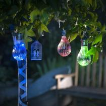 Galix - Lampion solaire ampoule - LED bleue