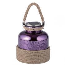Galix - Lanterne solaire portative en verre - Violet