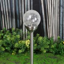 Galix - Lot de 2 Lanternes solaires inox avec diffuseur en verre - 12cm