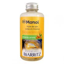 Laboratoires de Biarritz - Huile soin corps/cheveux Monoï, amande amère 100ml