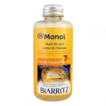 Laboratoires de Biarritz - Huile soin corps/cheveux Monoï, fruits des tropiques 100ml