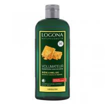 Logona - Shampoings Volume Bière Miel Cheveux Fins 500 ml